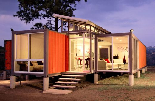 Maisons containers maisons conteneur and camping on pinterest for Maison container green habitat