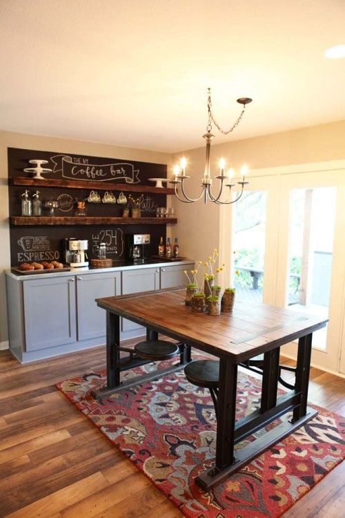 LOVED the color scheme from episode 2 of Fixer Upper!! Grey cabinets, beautiful wood floors, rustic wood....
