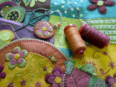 Aurifil 12 wt Wool on wool applique