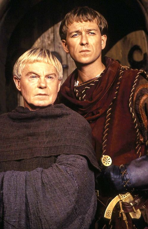 Derek Jacobi & Sean Pertwee as Brother Cadfael & Hugh Beringar