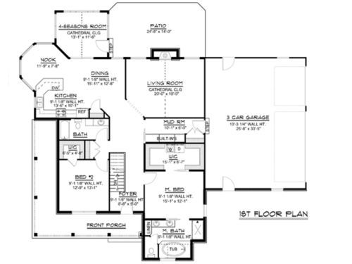 Custom Home House Plan 1 875 Sf Ranch W Basement 3 Car Garage Blueprint 1315 Garage Blueprints House Plans Floor Plans Ranch