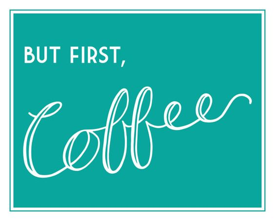But First Coffee Art Print by DulyNotedDesign on Etsy
