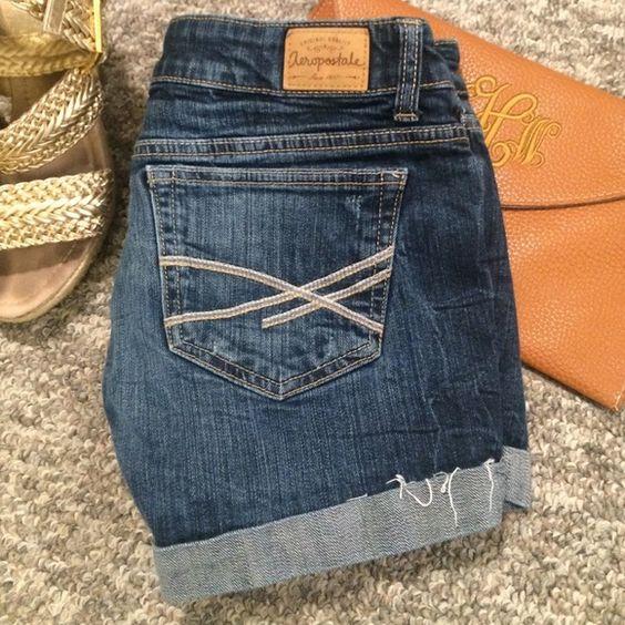 Aeropostale Jean Shorts Size 7/8 great condition! Aeropostale Shorts