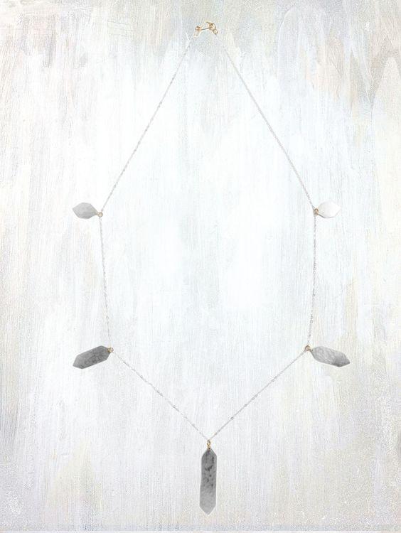 deco layering necklace