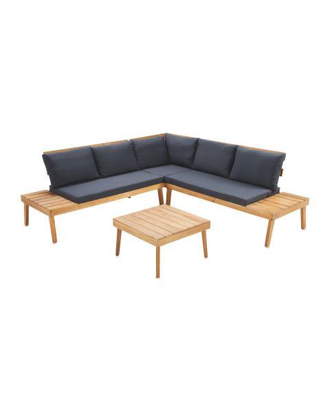 Large Wooden Sofa Table Set Corner Sofa Wooden Wooden Sofa Sofa Table