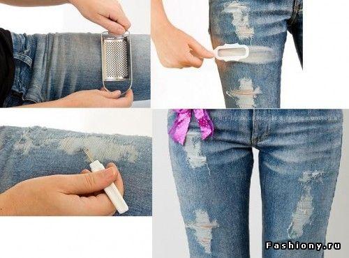Jeans rotos en la rodilla hombre