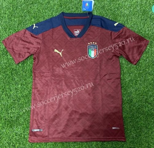2020 2021 Italy Goalkeeper Red Thailand Soccer Jersey Aaa 407 In 2020 Soccer Jersey Soccer Goalkeeper