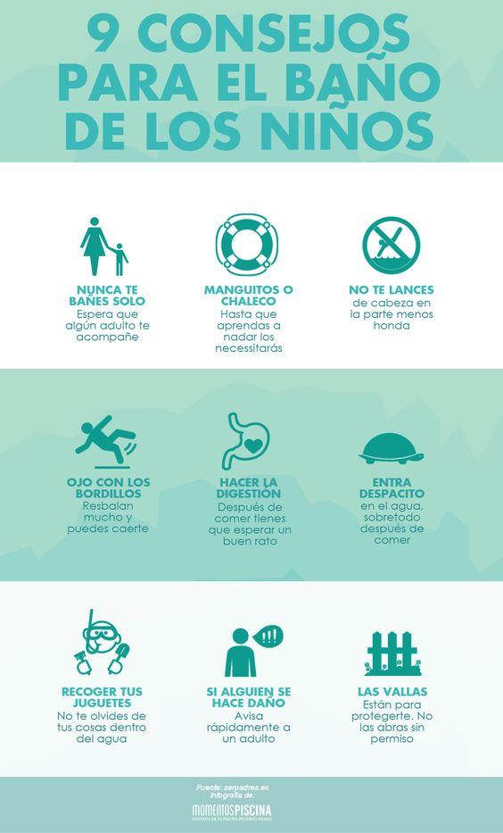 9 consejos para el baño de los niños