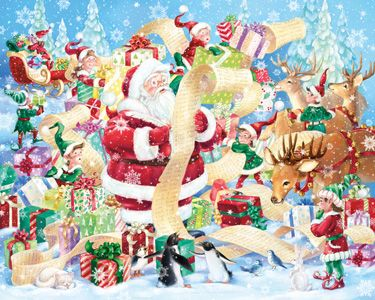 Santa's List Jigsaw Puzzle | Christmas - Santa | Vermont Christmas Co. VT Holiday Gift Shop