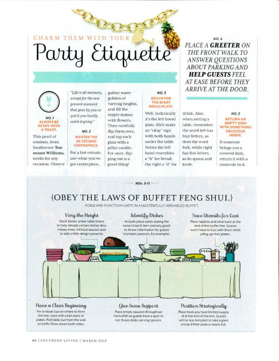 Ettiquette | how to proper set a buffet | Party Etiquette: