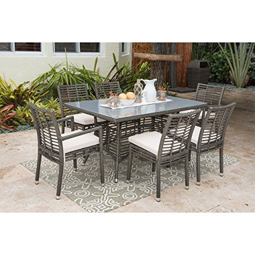 Panama Jack Graphite Aluminum 7 Piece Dining Set Outdoor Dining