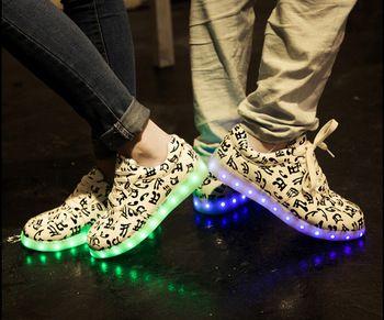 USB charging light shoes womenand men  LED shoes couples sneakers,women LED light up sneaker shoes free shipping 2015 hot