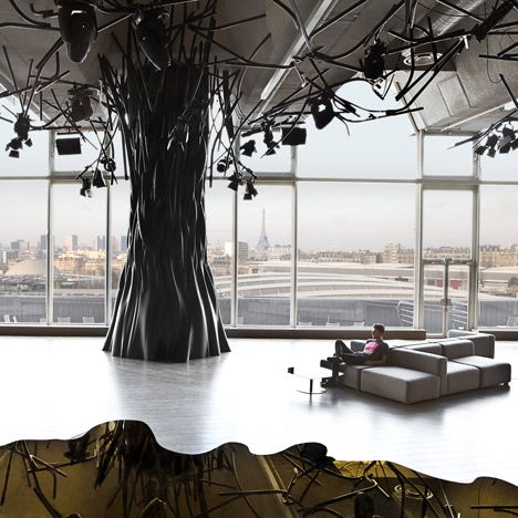 Electric Night Club and Lunch Bar   in a Penthouse in Paris  by Mathieu Lehanneur