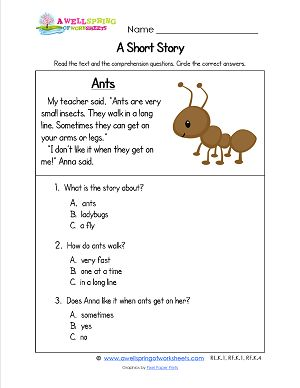 Printables Questions For Kindergarten kindergarten reading comprehension worksheets there are 18 sight check out these short stories they made up of several paragraphs and
