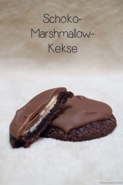 Wieder mal etwas Schokoladiges gefällig? Mit einer kleinen Überraschungsfüllung?Marshmallows sind mir pur eigentlich zu süß, aber wenn man sie dann unter Schokolade verbirgt, mit Brownie-Keks-Teig …