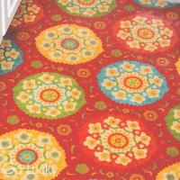Fabric and Vinyl Rug Inspired by Pinterest