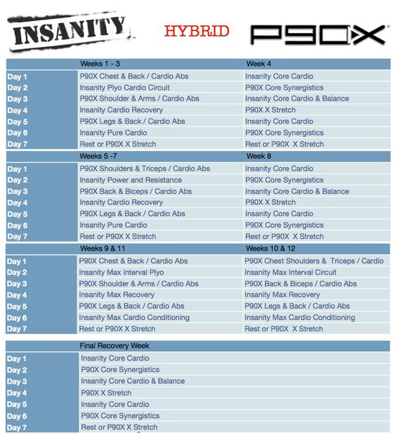 Workout List: Workout Exercises: Insanity Workout Exercises List Pdf