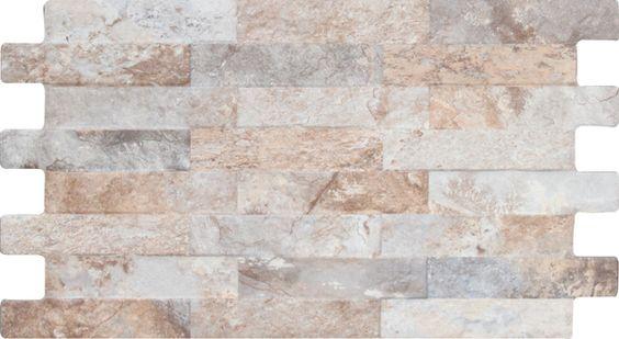 Tegelrijk Online Tegels | Vloertegels, Wandtegels & Mozaïektegels - Wandtegel Interlock Farilya Grey Beige | wandtegel | interlock | farilya | grey | beige | tegelrijk