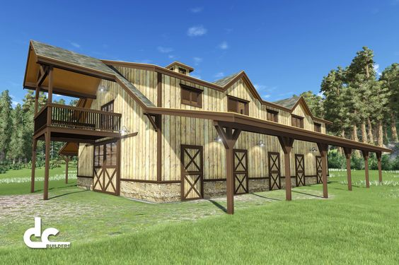 60 39 horse barn with living quarters floor plan barn for Barn plans with living quarters