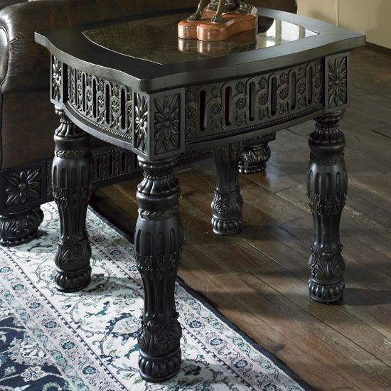ashley furniture britannia collection   Britannia Rose End Table  T951 2   Furniture XO. ashley britannia rose bedroom   B651 09 Ashley Furniture Britannia