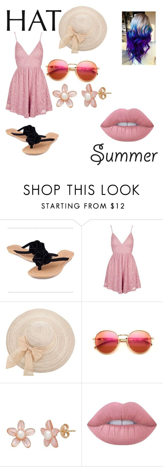 """""""Summer is coming"""" by nailahasti ❤ liked on Polyvore featuring Topshop, Wildfox, Lime Crime and summerhat"""