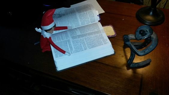 Pete's 2nd day on the job reading about our Savior with the praying cowboy