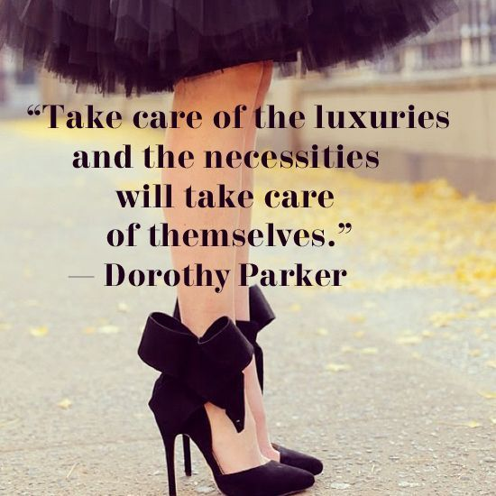 """#MondayMotivation """"Take care of the #luxuries and the necessities will take care of themselves"""" #GraceAdele #Style #WordsofWisdom #IChooseGraceAdele #GraceAdeleStyle"""
