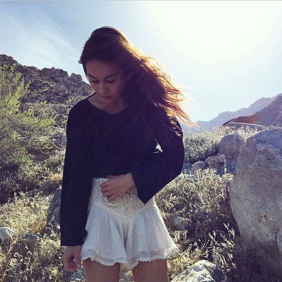 Waking up to so many fun photos of #jenspiratebooty in the desert!!  one of our favorites is @rumineely wearing the Las Flores Bloomers. You can find them at @revolveclothing