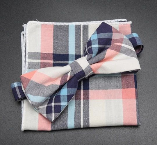Men/'s Fashion Accessories Handkerchief Gift For Him Pink Check Pocket Squares