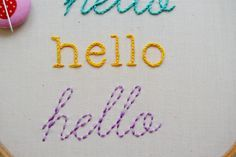 Let your hand embroidery speak for you! Learn how to stitch letters in four decorative ways.