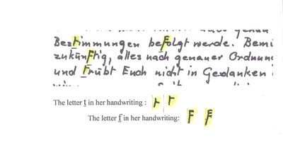 The Billy Meier Plejaran Contacts | This is a small excerpt of the copy of the letter Semjase wrote to the group in Switzerland upon request from Meier. The letter bears the impression that she is not used to our handwriting and finds some of our letters hard to write.