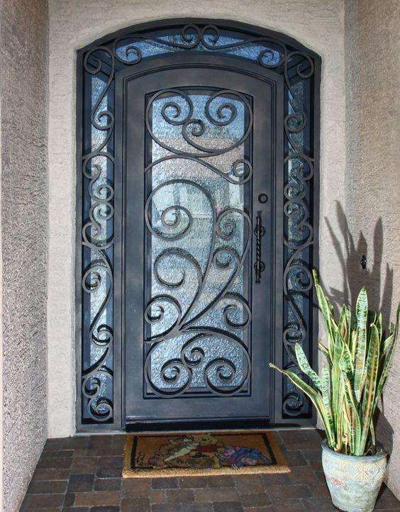 Puertas De Herreria Sencillas Y Bonitas Custom Exterior Doors Custom Front Doors Iron Entry Doors