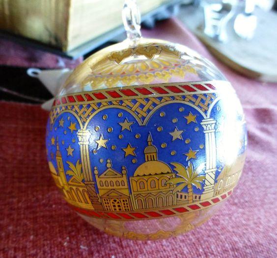 HUTSCHENREUTHER WEIHNACHTEN 2000 LIMITIERT GLAS Weihnachtskugel KUGEL Kirchen