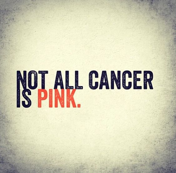 Pink is important too, of course, but when you have leukemia it's disappointing to see the amount of pink put out in stores, gas stations, etc. think of Grayson!