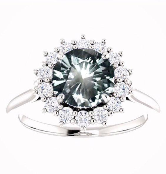Blue Montana Sapphire Diamond Ring