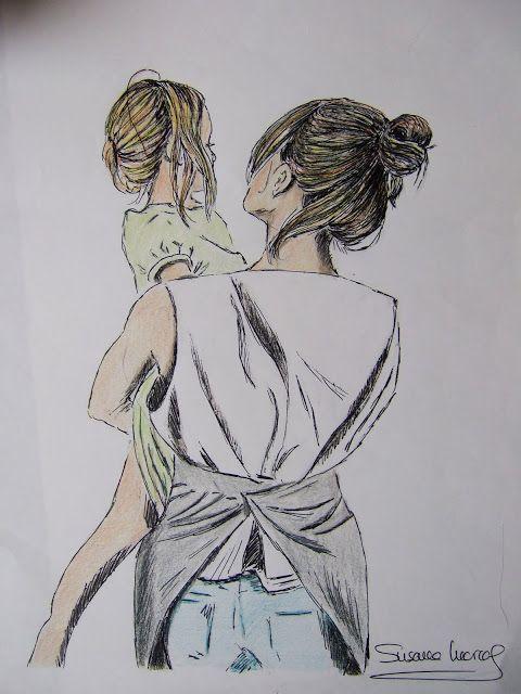 Madre E Hija Madre Arte Diseno Madre E Hija Dibujo Madre E Hija