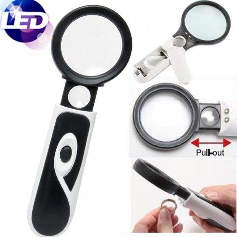 Cute Lupa Pro s Kit con luz ultravioleta para detecci n de billetes tambien con leds y un aumento de X Lupas Pinterest