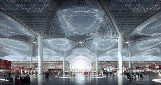 Istanbul New Airport - terminal complex
