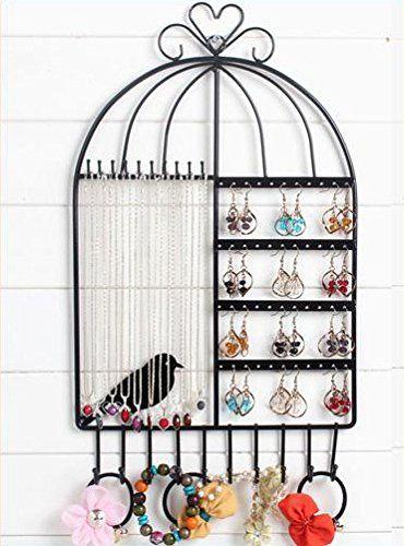 SwirlColor Wall Mount Schmuck Hanger Ständer Schmuck Ständer-Zahnstange für hängende Ohrring-Halsketten-