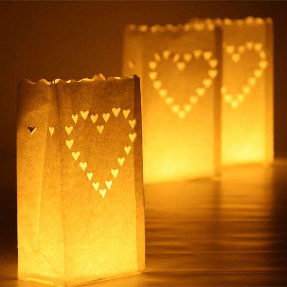 2015 nouvelle arrivée! Coeur porte lumière Luminaria lampion bougie sac pour la maison du parti de décoration de mariage en plein air 20 pcs/lote dans Accessoires de fêtes et d'évènement de Maison & Jardin sur AliExpress.com | Alibaba Group