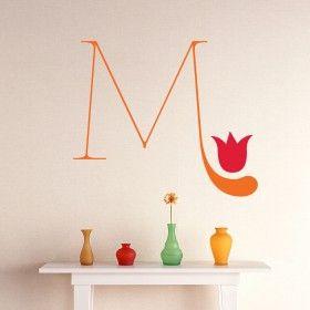 Da click! Vinilo Decorativo Flore Letra M