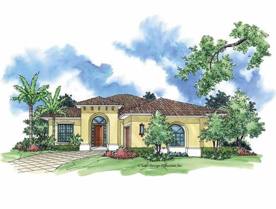 House plans home and mediterranean house plans on pinterest for Eplans mediterranean house plans
