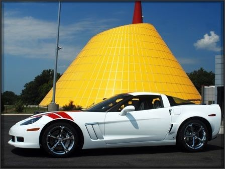 Home of the Corvette! The GM Corvette is produced in Bowling Green. The yellow building is the Corvette Museum, the home of many local events.