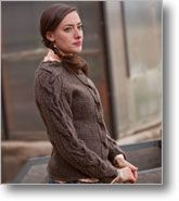 Braided cable sweater- just like the scarf, only on a sweater.  I love it!