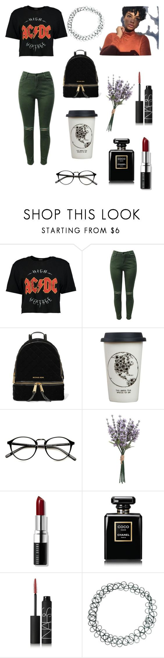 """""""NEW OUTFIT"""" by lenakenzie ❤ liked on Polyvore featuring Boohoo, MICHAEL Michael Kors, Natural Life, Bobbi Brown Cosmetics, Chanel, NARS Cosmetics and ASOS"""