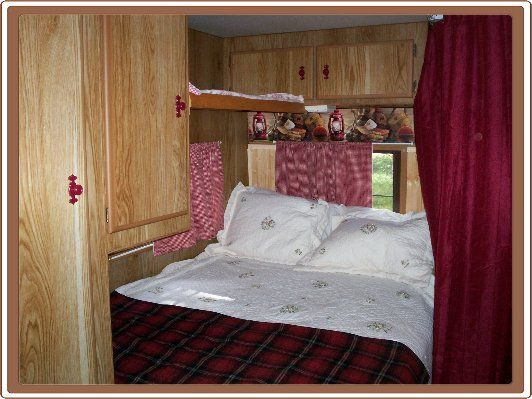 Coca Cola camper: the bedroom.
