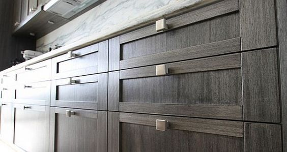 Kitchen: Wooden Kitchen Cabinet With Rectangle Knobs, kitchen cabinet, modern kitchen design ~ Imactoy.com