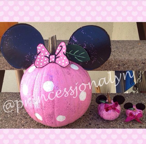Pumpkins mice and love this on pinterest for How to paint a mickey mouse pumpkin