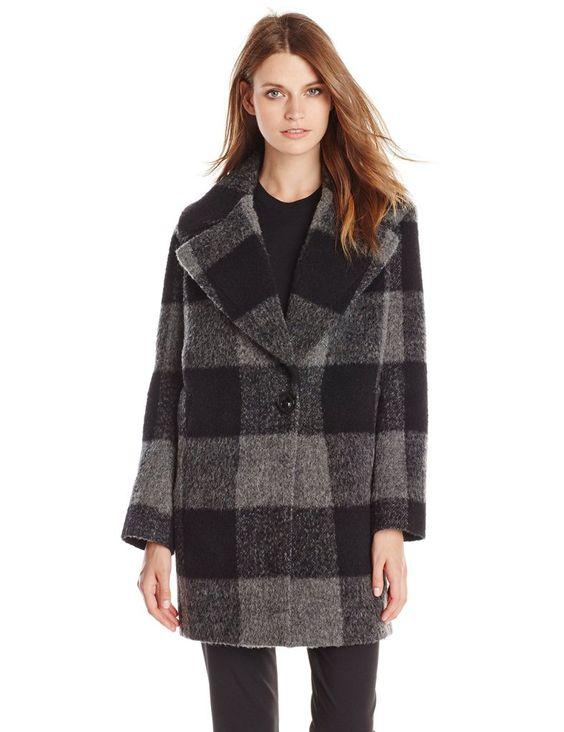 Kensie Women's Plaid Cocoon Wool Coat http://paulas-fashion.com/product/kensie-womens-plaid-cocoon-wool-coat/