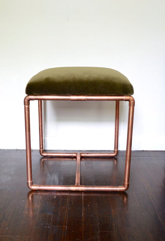 Copper Benches And Velvet On Pinterest